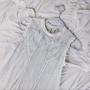 Free People ~ lace high low tunic M